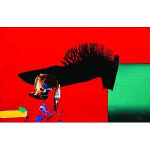 Manabu Mabe<br>Abstração – 25 x 38 cm – OSE – Ass. CID e Dat. 1986<br>Registrada no Instituto Mabe