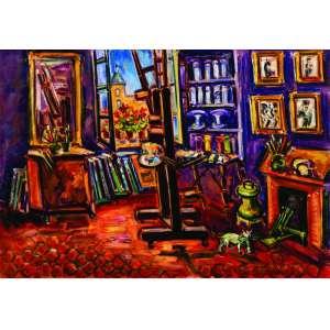 Sérgio Telles<br>Atelier no Quai Des Grand Augustins, Paris – 70 x 100 cm – OST – Ass. CIE e Dat. 2007<br>Reproduzida no catálogo da exposição realizada no Museu Inimá de Paula (2014).<br>Obra proveniente da coleção particular do artista