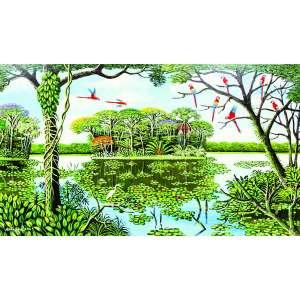 Nildo Silva<br>Floresta Amazônica – 70 x 120 cm – OST – Ass. CIE e Dat. 2009