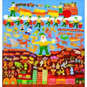 Papai Noel Brasileiro<br>180 x 170 cm – OST<br>Ass. CID e Dat. 2003<br>