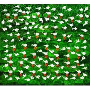 Revoada em Verde<br>190 x 210 cm – OST<br>Ass. CID e Dat. 1997<br>