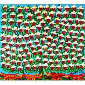 Ninhos de Pássaros<br>90 x 100 cm – OST<br>Ass. CID e Dat. 2007<br>Série especial 82 anos<br>
