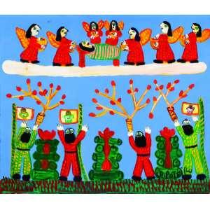 Festa de São Pedro<br>60 x 70 cm – OST<br>Ass. CID e Dat. 2005<br>Série especial 80<br>anos<br>