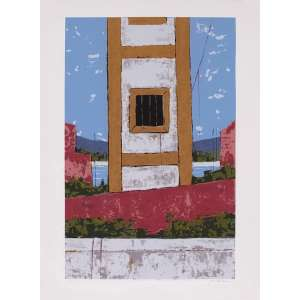 José Paulo Moreira daFonseca<br>Fachada – 66 x 48 cm – Gravura <br>Ass. CID – Sem Moldura