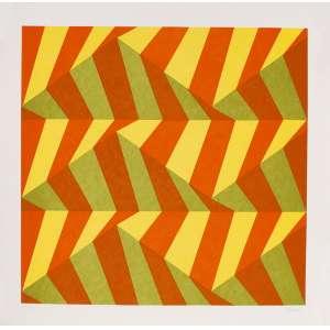 Sacilotto<br>Geométrico – 70 x 70cm – Gravura <br>Ass. CID e Dat. 2003 – Sem Moldura
