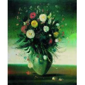 Cândido Portinari<br>Flores – 73 x 55 cm – Serigrafia<br>Ass. CID – Sem Moldura
