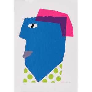 Gustavo Rosa<br>Máscara – 70 x 50 cm– Gravura <br>Ass. CID e Dat. 1996 – Sem Moldura