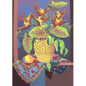 Yara Tupynambá<br>Folhas de Flores<br>70 x 50 cm – Gravura – Ass. PI <br>Sem Moldura