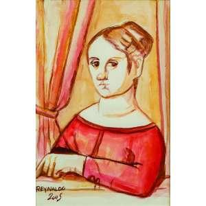 Reynaldo Fonseca<br>Figura Feminina – 30 x 20 cm-Aquarela – Ass. CIE e Dat. 2005<br> Apresenta certificado de autenticidade emitido pelo artista