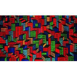 Claudio Tozzi<br>Cidade – 120 x 200 cm – AST-Ass. CID e Dat. 1998<br> Acompanha certificado de autenticidade emitido pelo artista<br>Seu processo de criação é metódico e sistemático: primeiro o desenho no papel vegetal, partindo quase sempre de uma fotografia, depois um projeto, finalmente o quadro. (...) A esta materialidade da cor, a esta imagem congelada, corresponde, também, em Tozzi, os recortes que ele vem introduzindo no próprio suporte. (...) Privilegiando a imagem (sua opacidade) contra o imaginário (a transparência), Tozzi se mostra um rigoroso formalista, distanciando-se da pop (com seu relais sociológico), transitando pelo conceitual até alcançar as tendênciasconstrutivas (minimal, suporte-surface).<br> Frederico Morais é crítico de arte. <br> Trecho extraído da fonte: CLAUDIO Tozzi. Texto de Frederico Morais. Rio de Janeiro: Galeria GB, 1985.