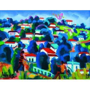 Inimá de Paula<br>As Favelas do Grande Rio – 31 x 41 cm – OST – Ass. CIE e Dat. 1986