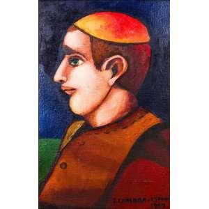 João Câmara<br>Auto-Retrato (Estudo) – 55,5 x 35,5 cm -OSTSE - Ass. CID e Dat. 1969<br>Selo no verso da Ipanema Galeria de Arte