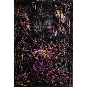 Artur Barrio<br>Noturno nº 1 – 112 x 77 cm – TM - Ass. CSE e Dat. 2003