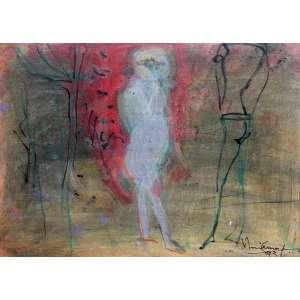 Iberê Camargo<br>Sem Título - 25 x 35 cm - Guache e Lápis Sobre Papel - Ass. CID e Dat. 1993<br> Apresenta certificado de autenticidade emitido por Tina Zappoli