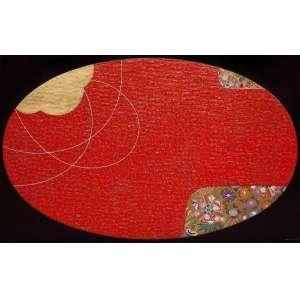 Wakabayashi<br>Composição em Vermelho – 150 x 240 cm – TMST – Ass. CID e Dat. 2011<br>Reproduzida na capa do catálogo da exposição individual<br> realizada pelo artista em 2015 na Errol Flynn Galeria de Arte