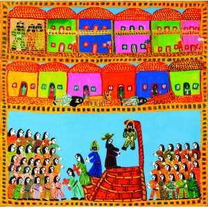 Antonio Poteiro<br>Tiradentes – 100 x 100 cm - OST – Ass. CID e Dat. 2000 <br> Reproduzida no catálogo da exposição Siron & Poteiro realizada no Centro Cultural da Câmara dos Deputados <br> Reproduzida no catálogo da retrospectiva realizada na Errol Flynn Galeria de Arte