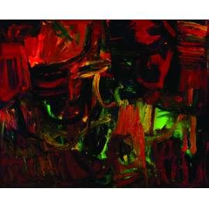 Jorge Guinle<br>Saudade - 130 x 160 cm - OST - Ass. CIE/Verso e Dat. 1980 <br>Jorge Guinle (Nova York, Estados Unidos 1947 - idem 1987) foi um dos artistas mais notáveis da chamada Geração 80. Descendente de uma das famílias mais ilustres do País e filho do playboy Jorginho Guinle, sofreu o descrédito da crítica no início da carreira, até que sua obra se firmou com a importância que sempre tivera. Pintor e desenhista, ele foi o líder intelectual do movimento pós-moderno no Brasil, escrevendo sobre as questões que orientavam suas obras e de seus amigos, assim como de artistas internacionais. Saiu das páginas das colunas sociais para ganhar espaço das melhores críticas de arte. Seu trabalho ganha repercussão e, na década de 1980, integra as principais exposições de arte do país. A produção do artista, concentrada em seus últimos sete anos de vida, é dedicada sobretudo à pintura, que chama atenção pelo vigor e pela intrincada referência que faz aos movimentos artísticos modernos e contemporâneos. Jorge Guinle é um importante incentivador da revalorização da pintura promovida pelo grupo de jovens artistas conhecido como Geração 80. Falecido em 1987, aos 40 anos, Jorge Guinle construiu, em pouco mais de dez anos, uma carreira que o tornou referência para a pintura contemporânea, e mereceu Sala Especial na 20.ª Bienal Internacional de São Paulo, em 1989, já como homenagem póstuma.