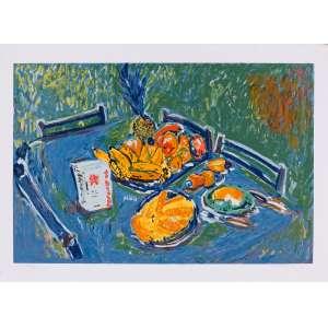 Lamartine Leite - Café da manhã – 48,5 x 66 cm – Ass. CID e Dat. 2000 – Sem Moldura