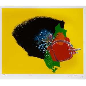 Yugo Mabe - Kaori – 50 x 60 cm – Gravura – Ass. CID e Dat. 2009 – Sem Moldura