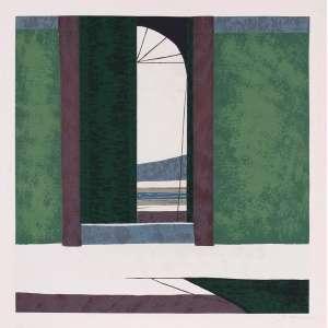 José Paulo Moreira da Fonseca - Janela – 70 x 70 cm – Gravura P. I. – Ass. CID – Sem Moldura