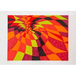 Aldir Mendes - Buraco Negro Vermelho – 50 x 70 cm – Gravura – Ass. CID e Dat. 2006 – Sem Moldura