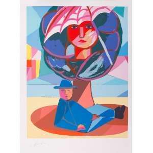 Cícero Dias - Descanso – 76 x 57 cm – Gravura – Ass. CIE – Sem Moldura