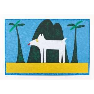 Ângelo de Aquino - Rex na paisagem II – 70 x 100 cm – Gravura – Ass. CID