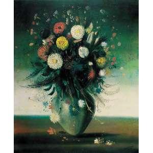 Cândido Portinari - Vaso de Flores – 70 x 50 cm - Serigrafia - Ass. CID – Sem Moldura