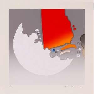 Fukuda - Abstração – 50 x 50 cm – Gravura – Ass. CID e Dat. 2010 – Sem Moldura