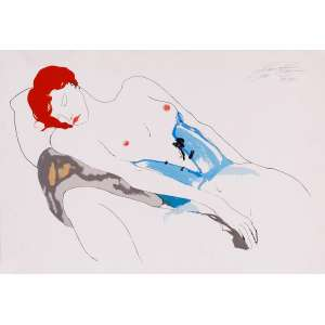 Guilherme Faria - Nu – 50 x 72 cm – Gravura – Ass. CSD e Dat. 1999 – Sem Moldura