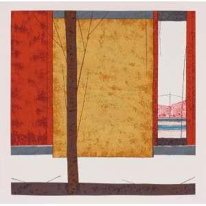 José Paulo Moreira da Fonseca - Árvore e Porta – 70 x 70 cm – Gravura – Ass. CID – Sem Moldura
