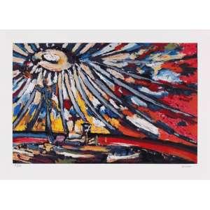 Carlos Bracher - Catedral de Brasília/DF – 50 x 70 cm – Gravura – Ass. CID – Sem Moldura