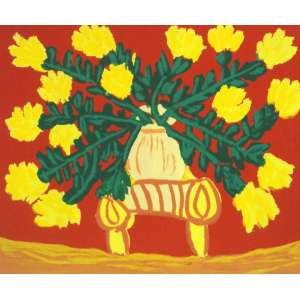 Antonio Poteiro - Vaso de Flores – 36 x 41 cm - Gravura - Ass. CID – Sem Moldura