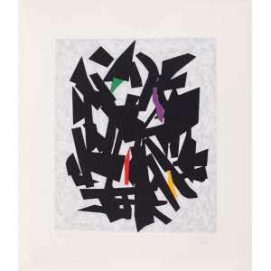 Eduardo Sued - Composição – 82,5 x 72 cm – Gravura – Ass. CID e Dat. 2011 – Sem Moldura