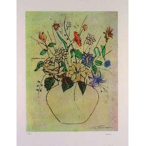 Cândido Portinari - Vaso de Flores – 70 x 50 cm Serigrafia – Ass. CID – Sem Moldura