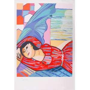 Cícero Dias - Mulher deitada – 110 x 75 cm – Gravura – Ass. CIE – Sem Moldura