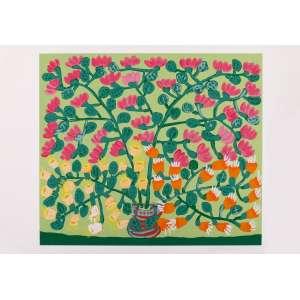 Antonio Poteiro - Vaso de Flores – 50 x 70 cm – Gravura – Ass. CID – Sem Moldura