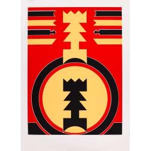Rubem Valentim - Emblemas – 100 x 70 cm – Gravura – Ass. CID e Dat. 1989 – Sem Moldura