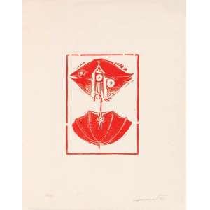 Alexandre Rapoport - Guarda-chuva – 50 x 40 cm – Gravura – Ass. CID e Dat. 1971 – Sem Moldura