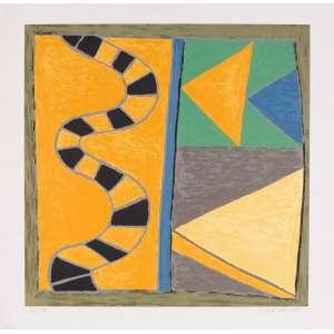 Tito de Alencastro - Composição – 70 x 70 cm – Gravura – Ass. CID – Sem Moldura