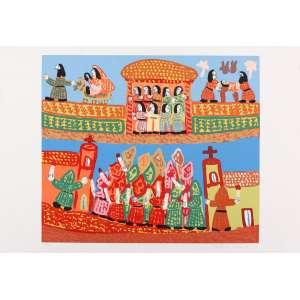 Antonio Poteiro - Nascimento de Jesus – 50 x 70 cm – Gravura – Ass. CID – Sem Moldura