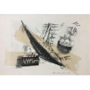 Maria Helena Andrés - Abstração - 33 x 47 cm - Gravura - Ass. CID e Dat. 1997 – Sem Moldura