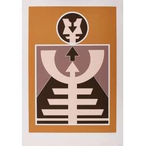Rubem Valentim - Emblemas - 100 x 70 cm – Gravura – Ass. CID e Dat. 1989 – Sem Moldura