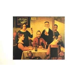Reynaldo Fonseca - Ceia em Familía - 47 x 66 cm – Gravura – Ass. CID – Sem Moldura