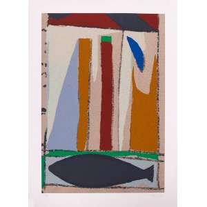 Tito de Alencastro - Composição – 66 x 48 cm – Gravura – Ass. CID – Sem Moldura