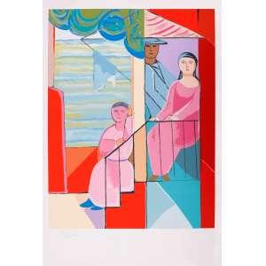 Cícero Dias - Moça na janela – 110 x 75 cm – Gravura – Ass. CIE – Sem Moldura