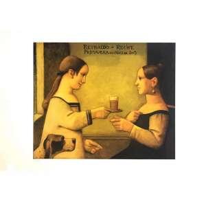 Reynaldo Fonseca - Chá da Tarde - 47 x 66 cm – Gravura – Ass. CID – Sem Moldura