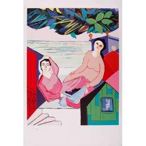 Cícero Dias - Figuras femininas – 110 x 75 cm – Gravura – Ass. CIE – Sem Moldura