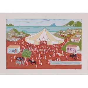 Fúlvio Pennacchi - Circo Alegria – 50 x 69,5 cm – Gravura – Ass. CID e Dat. 1990 – Sem Moldura