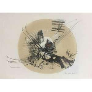 Maria Helena Andrés - Composição - 48 x 66 cm - Litografia - Ass. CID e Dat. 1987 – Sem Moldura